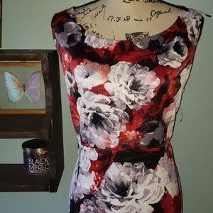 Kasper Dresses - New KASPER Floral Sleeveless Sheath Dress